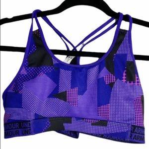 Under armour purple YLG sports bra
